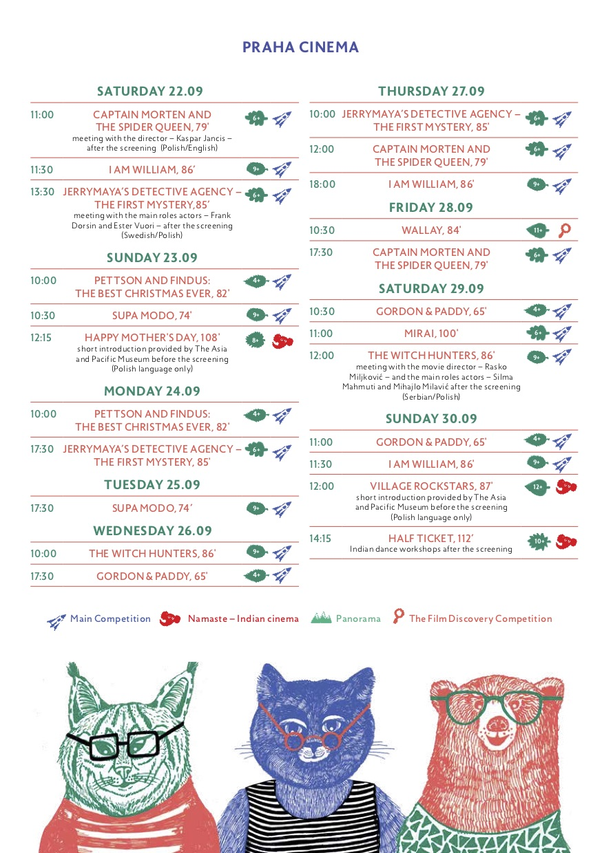 schedule praha
